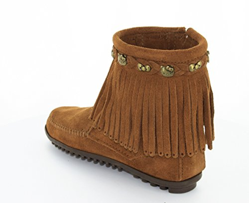 Minnetonka For Hello Kitty Fringe, Botas Mocasin para Mujer Marrón (Dusty Browndusty Brown)