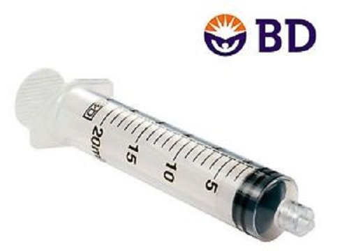 BDTM 20 mL Syringe Luer-Lok Tip Graduation - 1 mL 3/4 oz in 1/8oz 48/bx 302830