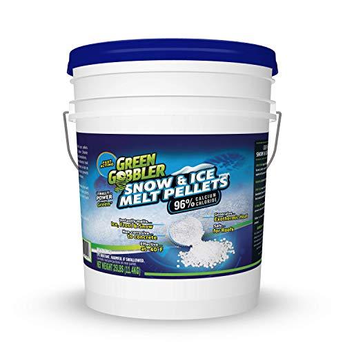 96% CALCIUM CHLORIDE Snow & Ice Melt Pellets - Animal & Plant Safe - 25 lb Pail