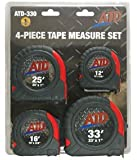 ATD Tools (330) 4-Piece Measure Tape Set