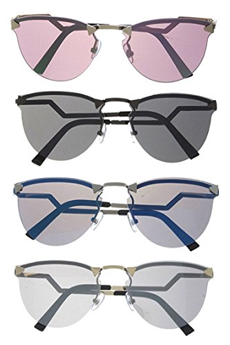Houston Costume Jewelry (KARMAS CANVAS CHIC FRAMELESS TRIANGLE ACCENT MIRRORED SUNGLASSES SET)