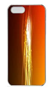 best case orange abstract bands PC Transparent Case for iphone 5/5S