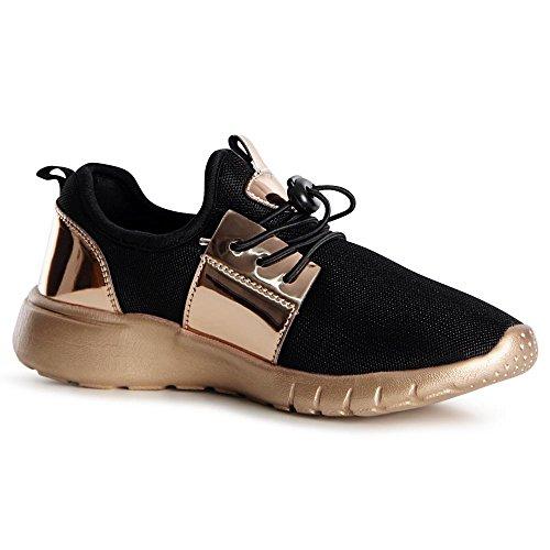 Noir Sneaker Donna Oro Sneaker Topschuhe24 Topschuhe24 Donna 1IwqxT0pXW