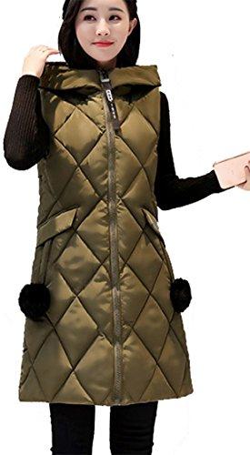 ドアミラー宇宙呼ぶ(アイユウガ)I-YUUGAレディース ベスト ダウンコート 厚手 冬 ロング丈 袖なしの胴着 カジュアル 綿入れ 通勤 スリム フード付き 大きいサイズ 可愛い 防寒 防風 無地 アウター 軽量 ファッション