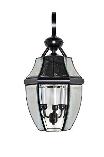 Maxim 4192CLBU South Park 3-Light Outdoor Wall Lantern, Burnished Finish, Clear Glass, CA Incandescent Incandescent Bulb , 60W Max., Dry Safety Rating, Standard Dimmable, Fabric Shade Material, 3360 Rated Lumens