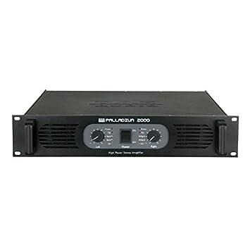 DAP-Audio P-2000 2.0 Alámbrico Negro - Amplificador de audio (2.0 canales