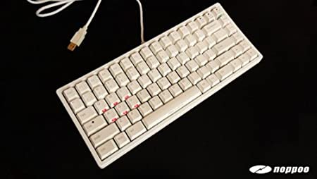mechanische Tastatur - Noppoo Choc Mini Cherry Mx-Black [White PBT] [Ansi - US International] NKRO