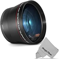 72MM 2.2x Altura Photo Professional Telephoto HD Lens for CANON, NIKON Lenses