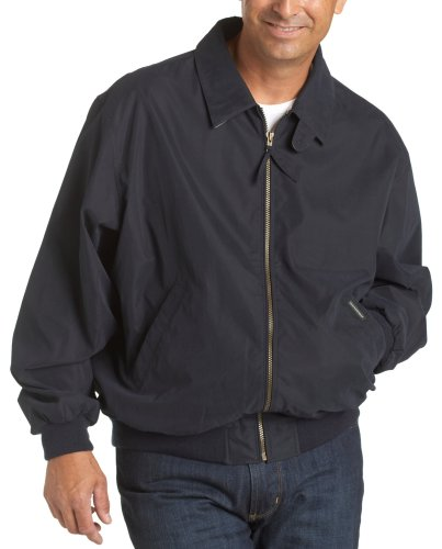 Four Pocket Nylon Jacket - Weatherproof Men's Microfiber Classic Jacket, Navy, X-Large