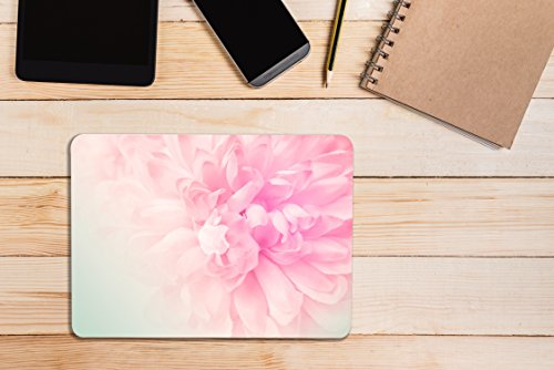 TOP CASE – 2 in 1 Bundle Deal Floral Pattern Rubberized Hard Case + Keyboard Cover Compatible with Apple MacBook Air 13'' (13'' Diagonally) Model: A1369 / A1466 - Pink Peony on Turquoise Base by TOP CASE (Image #6)