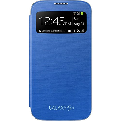 hot sale online b1cea 05df5 Samsung Galaxy S4 S-View Flip Cover Folio Case (Light Blue)