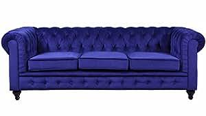 Amazon.com: Divano Roma Furniture Velvet Scroll Arm Tufted Button