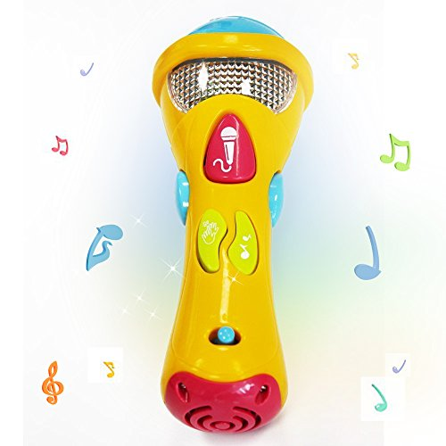 Kids Music Karaoke Microphone Toys - Wishtime Toddler Singing Karaoke Microphone for Recorder with Music and Light(Color May Vary) (Best Toy Microphone Reviews)