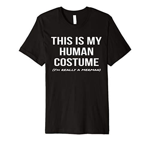 Human Costume I'm a Merman Shirt Halloween Cosplay Tee