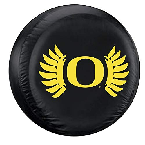 (NCAA Oregon Ducks Black Spare Tire Cover, One Size, Multicolor)
