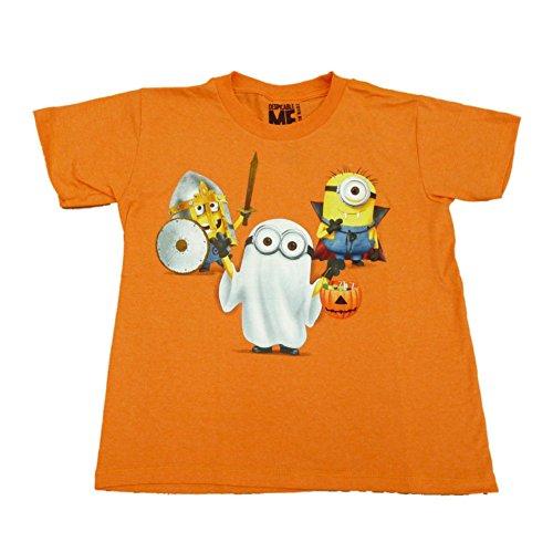 Despicable Me Minion Boys Orange Halloween Trick Or Treat T-Shirt Large (Despicable Me Halloween)
