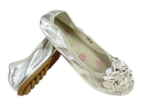 Chaussmaro - Bailarinas mujer plata