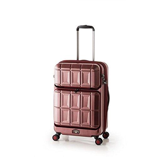 スーツケース 【マットブラッシュレッド】 拡張式(54L+8L) ダブルフロントオープン アジア ラゲージ 『PANTHEON』 ファッション バッグ スーツケース トラベルケース top1-ds-1950538-ah [簡素パッケージ品] B076PL2MX4