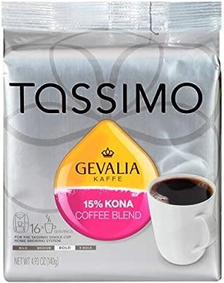 Tassimo Gevalia Kona - Discos de mezcla de café (16 unidades ...