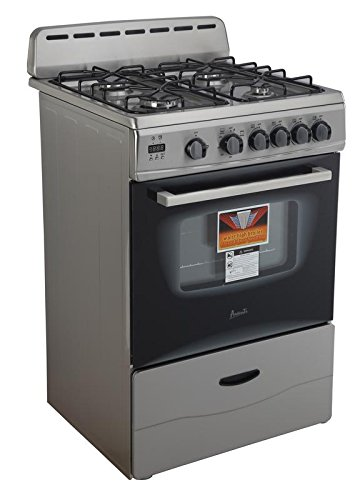 Avanti GR2416CSS 24' Gas Range with Sealed Burners, in Stainless Steel