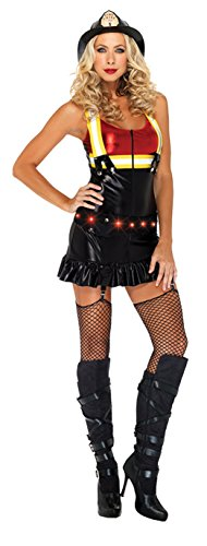 UHC Women's Hot Spot Honey Adult Outfit Sexy Fancy Dress Firefighter Costume, S (4-6)