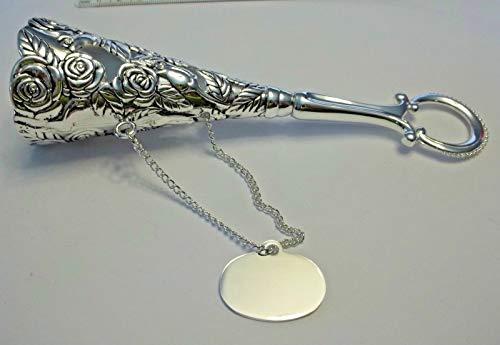 - Silverplate Wedding Rose Flower Bouquet Holder Tussie Mussie Nosegay Engravable