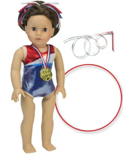 Doll Gymnastic Outfit Set for 18 Inch Dolls. 5 Pc. Set Fits American Girl Dolls & More! 18 Inch Doll