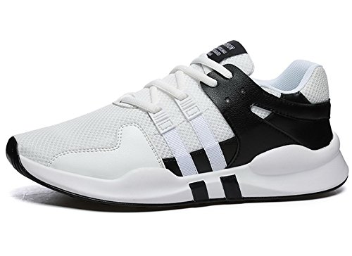 AgeeMi Shoes Herren Rund Zehe Unisex Erwachsene Low Top Sneakers Laufschuhe Weiß Schwarz