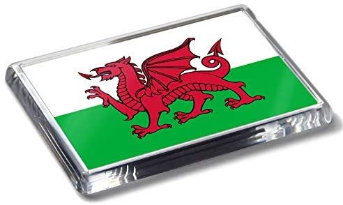 Flag of Wales National Colours Strong Acrylic Fridge Magnet Home Decor