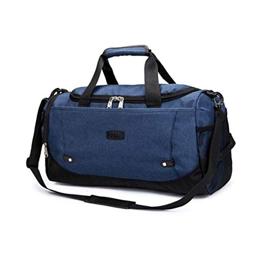 Jielongtongxun Fitness Bag, Large-Capacity Portable Sports Bag, Short-Distance Travel Bag, Purple Size: 512327 Alta qualità (Color : Denim -