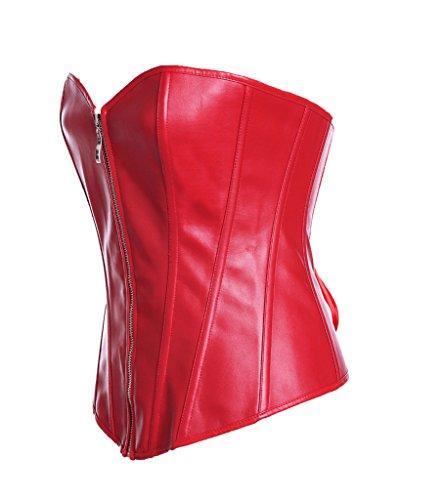 Vlunt señoras mujeres Cincher Cintura Entrenamiento Reductora Corsé Elástico Transpirable Rosso
