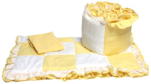 Baby-Doll-Bedding-Gingham-Cradle-Bedding-Set-Yellow