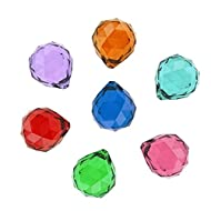 Hdecor 50mm Vintage Feng Shui Faceted Decorating Crystal Ball Prism (Multi-color 7pcs)