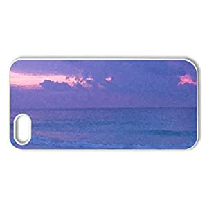 Cancun Sunrise - Case Cover for iPhone 5 and 5S (Beaches Series, Watercolor style, White)