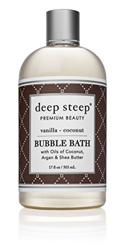 Deep Steep Bubble Bath, Vanilla Coconut, 17 Ounce