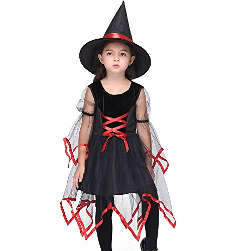 (Uleade Baby Girls Witch Halloween Costume Kids Festival Performance Costume Party Cosplay Dresses)