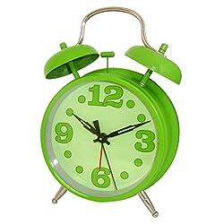 Westclox 75007G Green Metal Twin Bell Alarm Clock