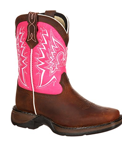 Pink Cowgirl Boots Kids - Durango Kid's DWBT093 Boot, brown/pink, 13 M US Little Kid