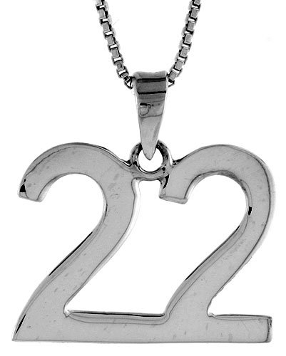 Amazon sterling silver number 22 pendant 34 inch necklaces sterling silver number 22 pendant 34 inch aloadofball Image collections