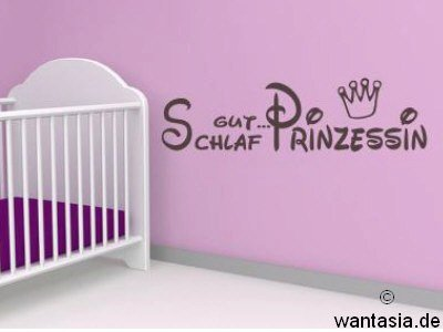 wandtattoo schlaf gut kleine prinzessin reuniecollegenoetsele. Black Bedroom Furniture Sets. Home Design Ideas
