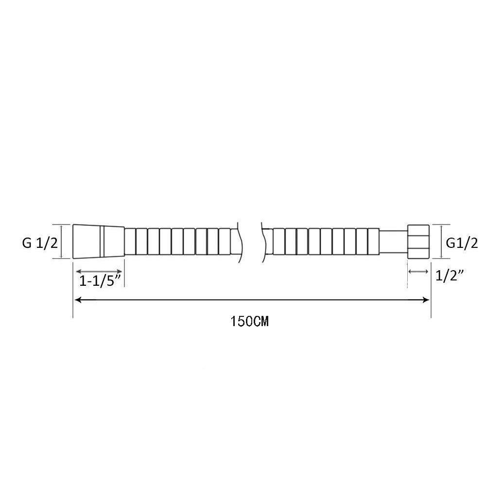 flexibel Anti-Verdrehung 1,2 m hohe Durchfl/üsse verchromt Edelstahl ATUM HOME Duschschlauch explosionsgesch/ützt