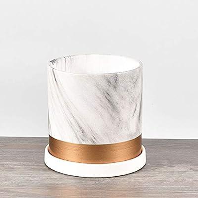 Sersberg 4.53 Inch Round Ceramic Plant Saucer for Succulent Pot Planter Set of 4, White : Garden & Outdoor