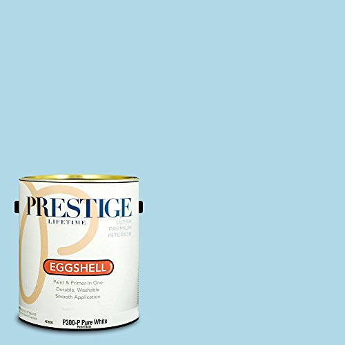 Prestige Paints P300-P-SW6956 Interior Paint and Primer in One, 1-Gallon, Eggshell, Comparable Match of Sherwin Williams Blue Refrain, 1 Gallon, SW155-Blue