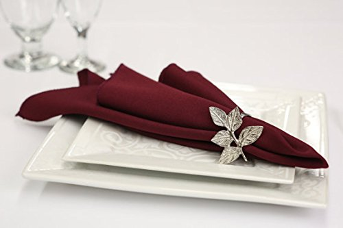 Zhen Linen Burgundy Polyester Napkins - Pack of 100