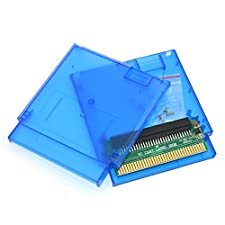 Cinpel Replacement Game Cartridge Shell With Famicom 60 Pin To 72 Pin Adapter Card for Nintendo NES Transparent Blue
