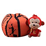 cjc 18 Inch Cute Stuffed Animal Storage Bean Bag Child's Stuffed Animals and Blankets Children Storage Bean Bag Pouf Clean up the Room (Basketball)