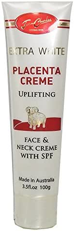 Jean Charles Extra White Placenta Creme Uplifting Face and Neck Creme with SPF