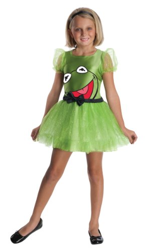The Muppets Kermit The Frog Girls Costume - Small