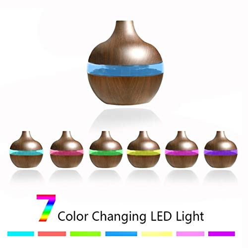 Fantastick Wood Grain USB Air Humidifier 7Color Changing LED Night Light Aroma Essential Oil Diffuser Purifier