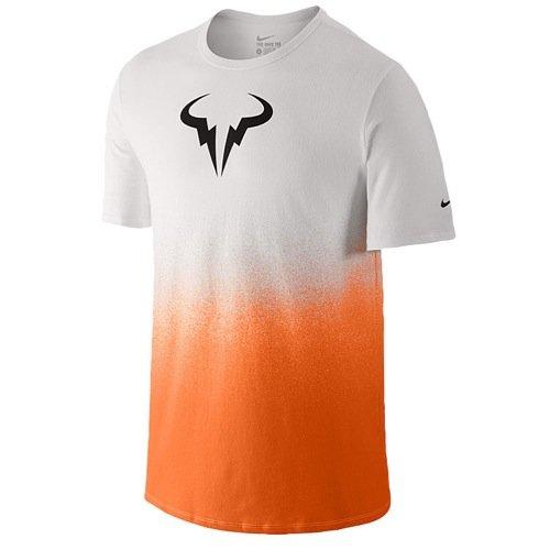 Nike Rafael Nadal Rafa Premier Crew White/Mandarin 658163-101 (Medium)